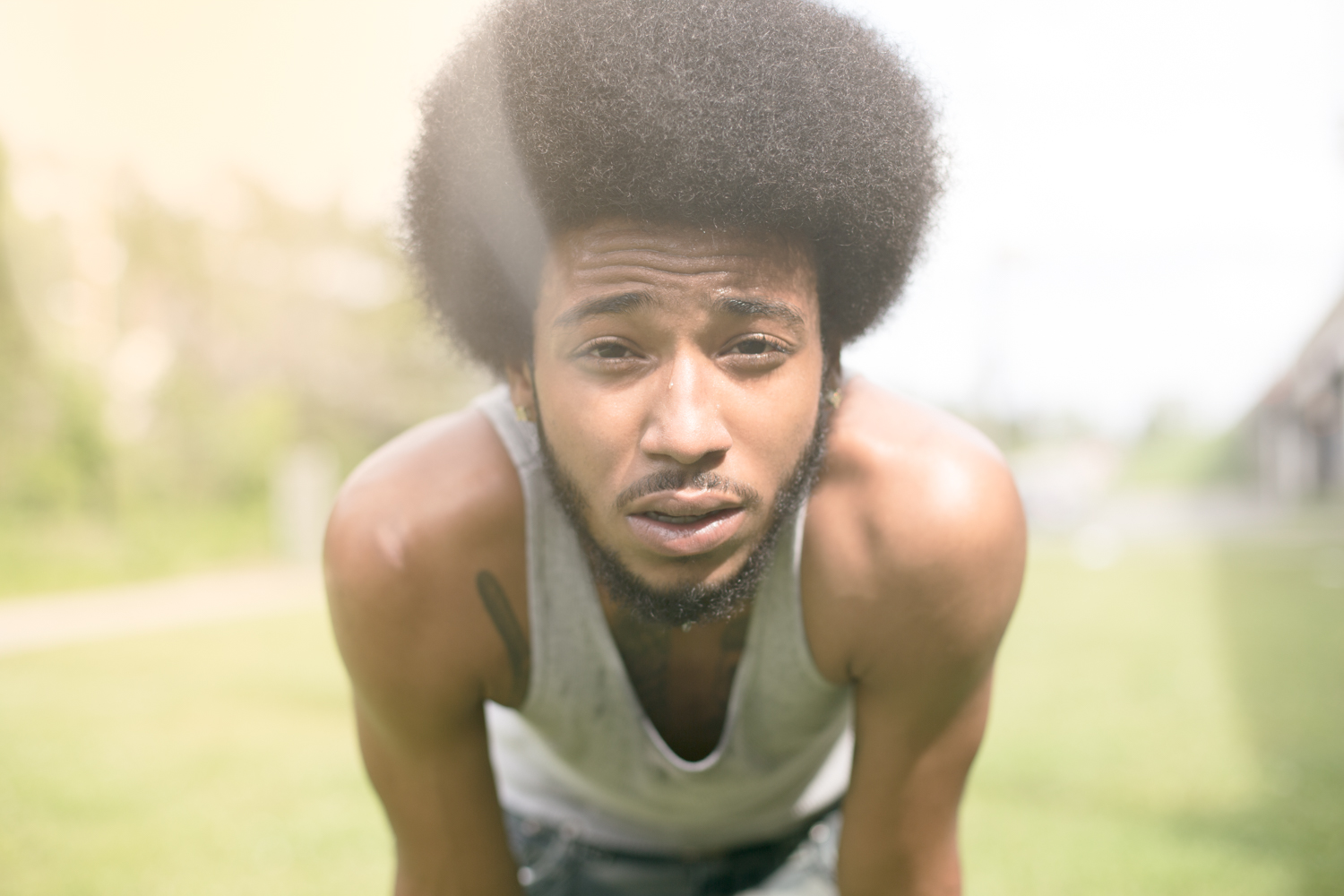 man-with-an-afro